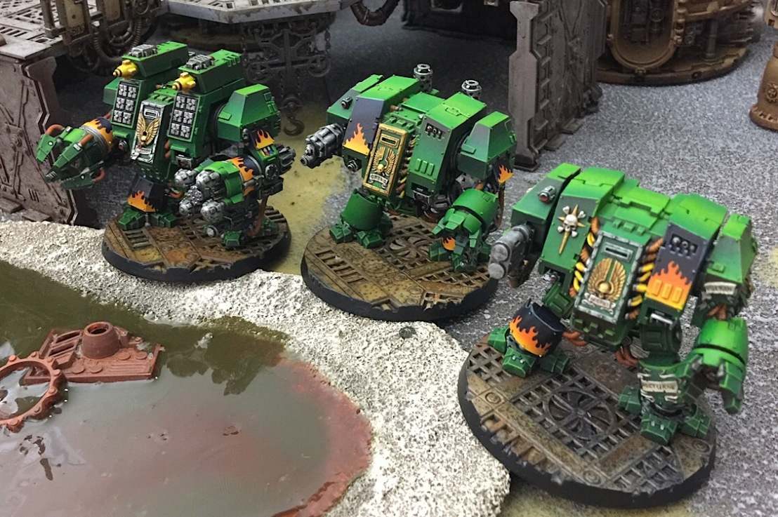 Salamanders Reinforcements: Dreadnoughts